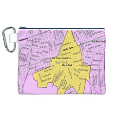 Floral Park Ny Map Canvas Cosmetic Bag (XL)