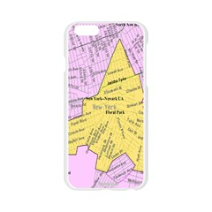 Floral Park Ny Map Apple Seamless iPhone 6/6S Case (Transparent)