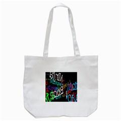 Miami Text Tote Bag (White)