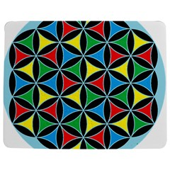 Flower Of Life 4 Color Triangles Jigsaw Puzzle Photo Stand (Rectangular)