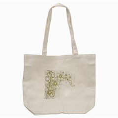 Flowers Background Leaf Leaves Tote Bag (Cream)