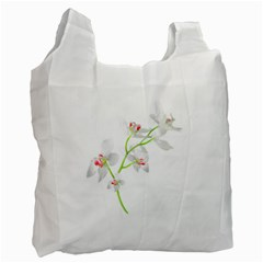 Isolated Orquideas Blossom Recycle Bag (two Side)