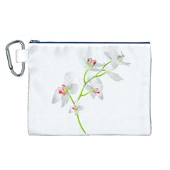 Isolated Orquideas Blossom Canvas Cosmetic Bag (L)