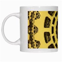 Gears White Mugs