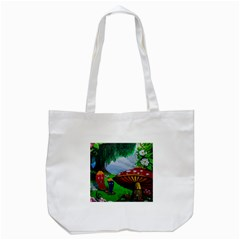 Kindergarten Painting Wall Colorful Tote Bag (White)