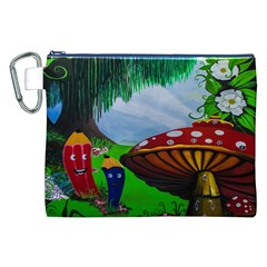Kindergarten Painting Wall Colorful Canvas Cosmetic Bag (XXL)