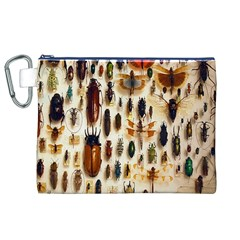 Insect Collection Canvas Cosmetic Bag (XL)