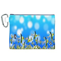 Pisces Underwater World Fairy Tale Canvas Cosmetic Bag (XL)