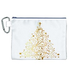 Starry Christmas Tree Holidays Canvas Cosmetic Bag (XL)