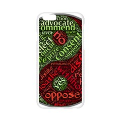 Tao Duality Binary Opposites  Apple Seamless iPhone 6/6S Case (Transparent)