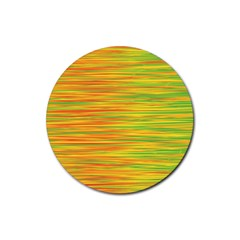 Green and oragne Rubber Round Coaster (4 pack)