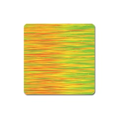 Green and oragne Square Magnet