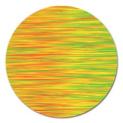 Green and oragne Magnet 5  (Round)