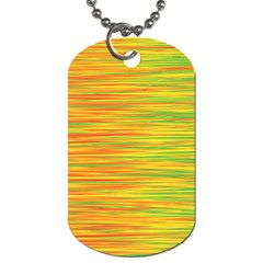 Green and oragne Dog Tag (One Side)