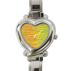 Green and oragne Heart Italian Charm Watch