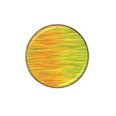 Green and oragne Hat Clip Ball Marker (4 pack)