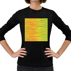 Green and oragne Women s Long Sleeve Dark T-Shirts