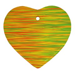 Green and oragne Heart Ornament (2 Sides)
