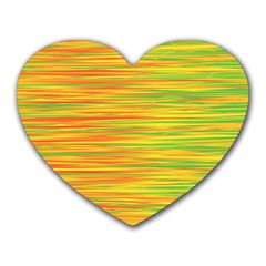 Green and oragne Heart Mousepads