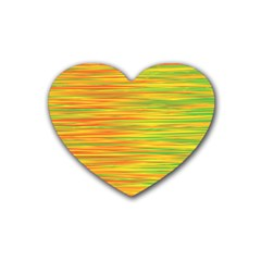 Green and oragne Heart Coaster (4 pack)