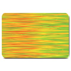 Green and oragne Large Doormat