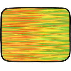 Green and oragne Double Sided Fleece Blanket (Mini)