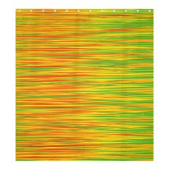 Green and oragne Shower Curtain 66  x 72  (Large)