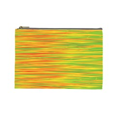 Green and oragne Cosmetic Bag (Large)