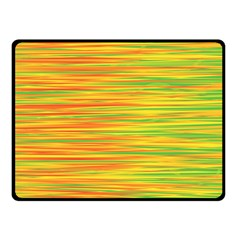 Green and oragne Fleece Blanket (Small)