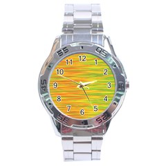 Green and oragne Stainless Steel Analogue Watch