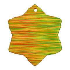Green and oragne Snowflake Ornament (2-Side)