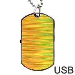 Green and oragne Dog Tag USB Flash (One Side)