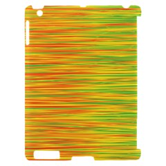 Green and oragne Apple iPad 2 Hardshell Case (Compatible with Smart Cover)