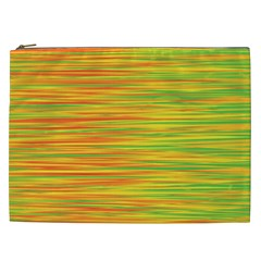 Green and oragne Cosmetic Bag (XXL)