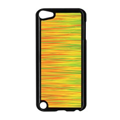 Green and oragne Apple iPod Touch 5 Case (Black)