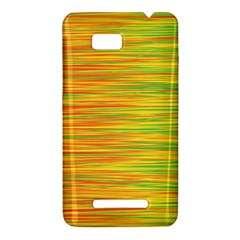 Green and oragne HTC One SU T528W Hardshell Case