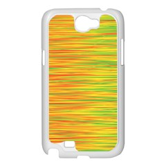 Green and oragne Samsung Galaxy Note 2 Case (White)