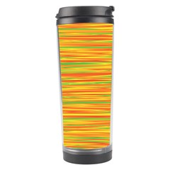 Green and oragne Travel Tumbler