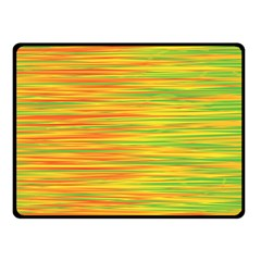 Green and oragne Double Sided Fleece Blanket (Small)