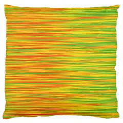 Green and oragne Large Flano Cushion Case (Two Sides)