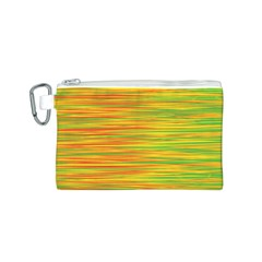 Green and oragne Canvas Cosmetic Bag (S)