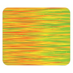 Green and oragne Double Sided Flano Blanket (Small)