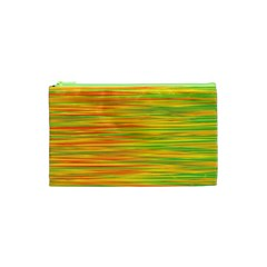 Green and oragne Cosmetic Bag (XS)