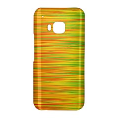 Green and oragne HTC One M9 Hardshell Case