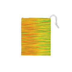 Green and oragne Drawstring Pouches (XS)