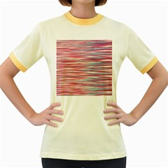 Gentle design Women s Fitted Ringer T-Shirts