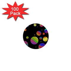 Colorful galaxy 1  Mini Buttons (100 pack)