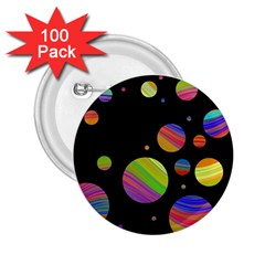 Colorful galaxy 2.25  Buttons (100 pack)