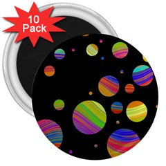 Colorful galaxy 3  Magnets (10 pack)