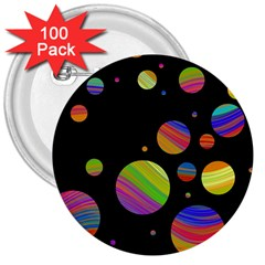 Colorful galaxy 3  Buttons (100 pack)